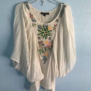 Beaded top by Anthropologie